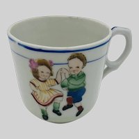 19thc Child's Cup Transfer Ware