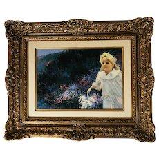 Fine Oil Painting Cueillette Nocturne