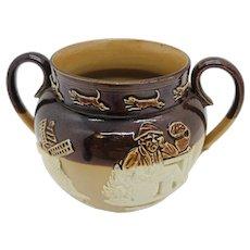 Doulton Lambeth Stoneware Sugar Bowl