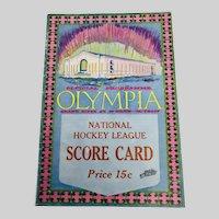 Detroit Olympia 1927 NHL Programme