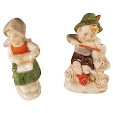 Vintage Japanese Porcelain Boy and Girl Figurines