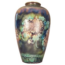 """Tall 18"""" Vietnamese Pottery Vase Signed by Vu Thang - Rare"""