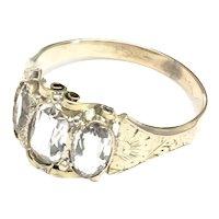 Victorian 14K Gold Quartz Ring size 6 3/4
