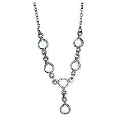 A wonderful 925 Sterling silver blue Topaz drop necklace