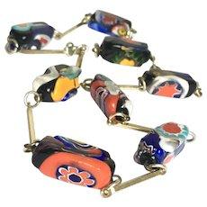 "A wonderful Colourful Millefiori Venetian Glass Beaded 20"" Necklace"