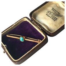 A wonderful English Antique Jewelry Brooch Box with Purple Velvet Interior.