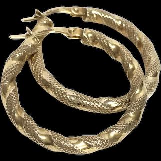 A wonderful 9K Gold Creole Hoop Earrings