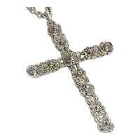 Arts and Crafts Silver Cross Pendant
