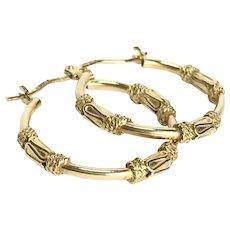Vintage 9Ct Gold Creole Hoop Earrings