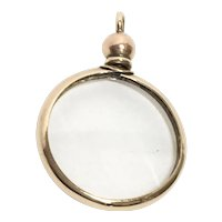 Antique Victorian 15Ct Gold Double-Sided Photo Pendant