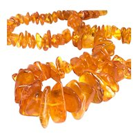 """Mid- 20Th Century Amber Necklace 26"""", 57 grams"""