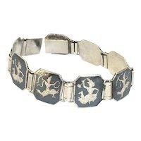 Siam Niello Sterling Silver Bracelet 25.77 grams