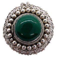 Vintage Taxco Mexico Poison Locket Silver Signed