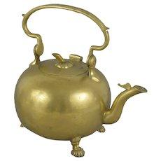 18th century Dutch Brass Apple shape Kettle