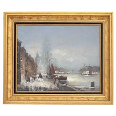 Winter landscape Flemish school Signed De Wael