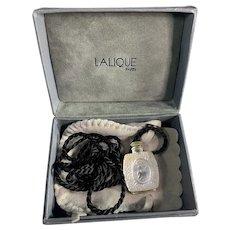 Vintage Lalique Necklace with Perfume Bottle Pendant