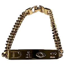 Vintage Christian Dior Engraved Bracelet