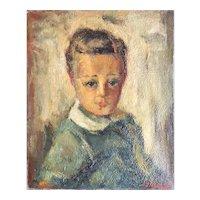 Pastoukhoff Boris (1894-1974) Portrait of a Child Oil on Canvas Paris School