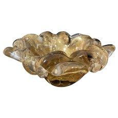 Golden Murano Glass Bowl