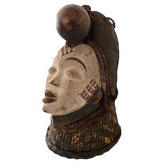 Wooden Punu Lumbo African Mask Traditional