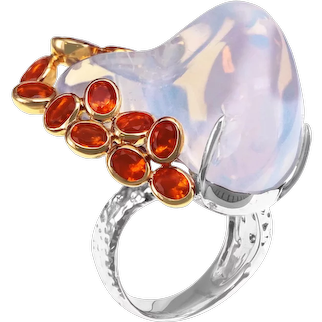 40.44 Carat Mexican Opal Gigantic One of a Kind Ring