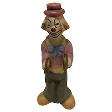 """Vintage Ceramic Clown Figurine with Cymbals, 5.25"""" Tall"""