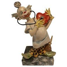 Fontanini Depose Clown on Carrara Marble, Heart Doctor, #957