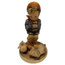 """Highly collectible Goebel Hummel """"Farm Boy"""" Figurine, 66, TMK-3 (small stylized bee)"""