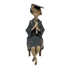 Lladro Girl Graduate Figurine #5199, Excellent Condition, In Box- RETIRED