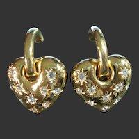 Joan Rivers Heart & Rhinestone Changeable Clip Earrings