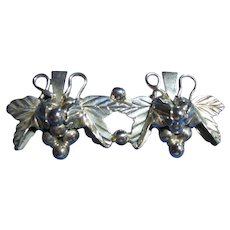 Taxco Mexico Sterling 925 Silver Grapes Brooch / Pin