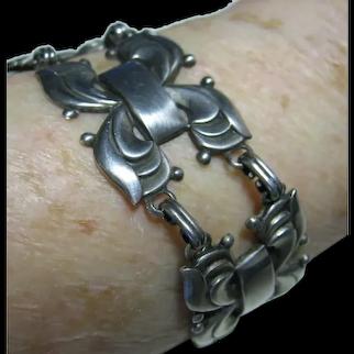 Coro Norseland Sterling Silver 925 Bracelet Vintage 1940's