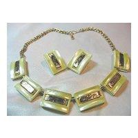 Lucite Necklace & Earrings Vintage Set