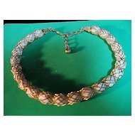 Vintage Signed Napier Small Size Choker Necklace