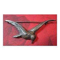 Vintage Sterling Silver 925 Bird in Flight Brooch/Pin
