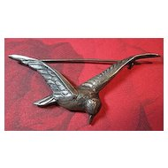 Vintage Sterling Silver 925 Bird in Flight Brooch/Pin