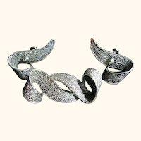 Signed Beau Vintage Sterling 925 Dainty Brooch & Earrings Set