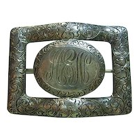 Initials AEN Vintage Sterling Silver 925 Sash Brooch