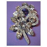 Rhinestone Signed Eisenberg Ice Vintage Brooch/Pin Bridal