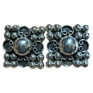 Sterling 925 Taxco Mexico Etruscan Clip-On/Clips Earrings