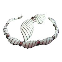 Vintage Trifari Dainty Set Enamel Bracelet & Pin/Brooch