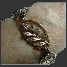 Vintage Gold Filled Exquisite Leaf Bracelet