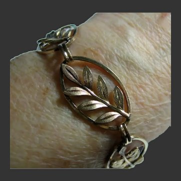 Vintage Gold Filled Exquisite Leaf Bracelet
