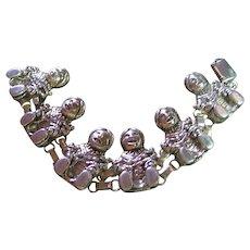 Bracelet Sterling Silver 925 Artist Signed Carol Felley Story Teller Mother 4 Children