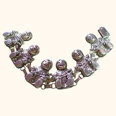 Bracelet Sterling Silver 925 Artist Signed Felley Story Teller Mother
