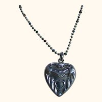 Sterling Silver 925 Old Vintage Heart & Hands Pendant/Necklace