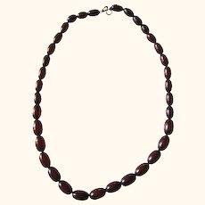 Old Vintage Cherry Amber Bakelite Bead Necklace