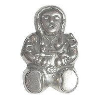 Southwestern Native American Storyteller Sterling Silver 925 Brooch/Pin
