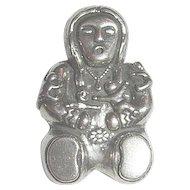 Southwestern Native American Storyteller Sterling Silver 925 Brooch/Pin