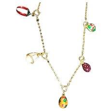Popular Joan Rivers Mini Eggs Necklace